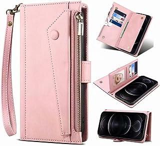 Ufgoszvp iPhone 12 Pro Max Wallet Case, voor iPhone 12 Pro Max Crossbody Case, Flip Folio Lederen Cover Rits Portemonnee m...
