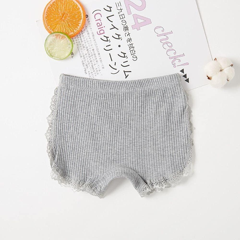 FHSJN Breathable Cute Summer Home Lace Elastic Waist Dress Ribbed Shorts Boxer Briefs Safety Shorts Kids Shorts(150,Grey)