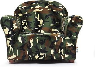 Keet Roundy Faux Fur Children's Chair, Camo