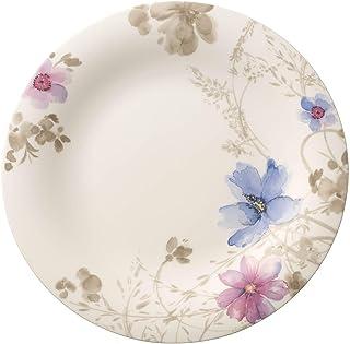 Villeroy & Boch Mariefleur Gris Basic Assiette gourmet ronde, 30 cm, Porcelaine Premium, Blanc/Multicolore