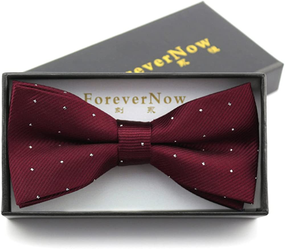 Business formal dress tie/pure color bow tie
