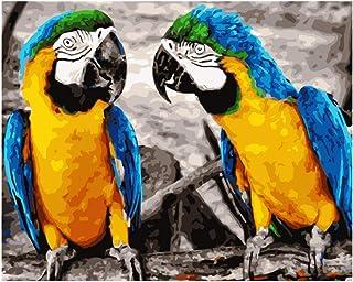 LvJin King Kong Macaw Animal DIY Pintura Digital por números Modern Wall Art Canvas Painting Gift para niños Decoración para el hogar Caligrafía 40 * 50CM