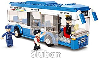 Sluban Single Decker City Bus - 238 Pieces in Original English Box 100% Lego Compatible - Educational Toy - Building Blocks (M38-B0330)