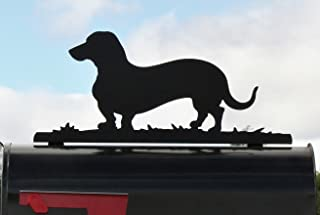 Wiener Dog Dachshund Metal Mailbox Topper