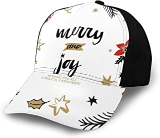 GULTMEE Hip Hop Sun Hat Baseball Cap,Abstract Simplistic Delicate Floral Art Pattern,for Men&Women