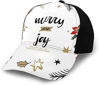 GULTMEE Hip Hop Sun Hat Baseball Cap,Abstract Simplistic Delicate Floral Art Pattern,for Men&Women