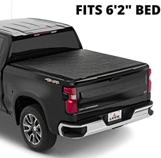 LEER SR250 | Fits 2016+ Toyota Tacoma with 6.2 FT Bed | Sturdy, Easy Install, Soft Rolling Truck Bed Tonneau Cover | 61028...
