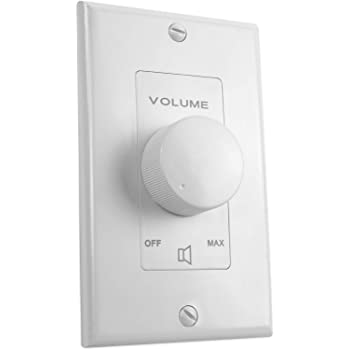 Rockville VOL7035 White 35w 70v Wall Volume Control Zone Controller Box 1-Gang
