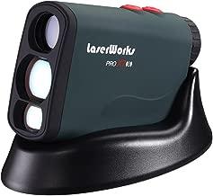 LaserWorks PRO X7 Golf Rangefinder with Flagpole Lock-Slope-Wireless Charging USB