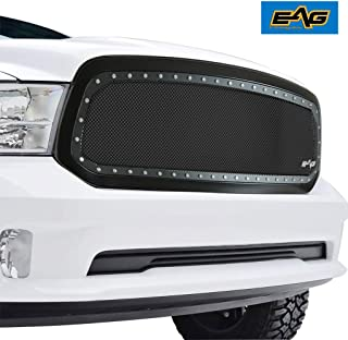 EAG Rivet Stainless Steel Replacement Mesh Grille With Shell Fit for 13-18 Dodge Ram 1500