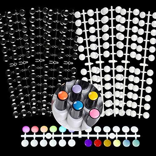 Nagelspitzen Nagel Display Farbkarte, EBANKU 240PCS Nagelspitzen Anzeigetafel für Nail Art Design Muster Praxis Und Swatch Nagellack Farben Geformte Nägel Kunstwerkzeuge