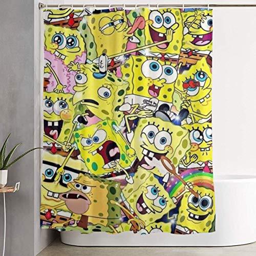 993 CCOVN Duschvorhang Spongebob Patterns (2) Shower Curtain Decor for Men Women Boys Girls 60x72 in