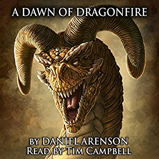A Dawn of Dragonfire audiobook cover art