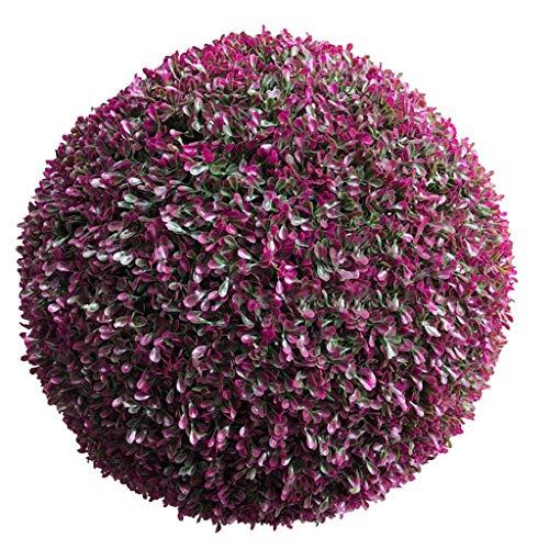 HXCD Künstliche Pflanzen Grass Ball, Lila Simulation Grass Ball Gehobene Kunststoff Erdnuss Grass Ball Die Mall Dekoration, 20cm