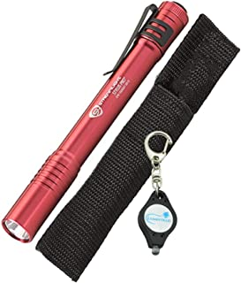 Streamlight 66120 Stylus Pro LED Penlight, Red with a Lumintrail Keychain Light
