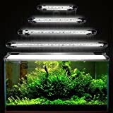 DOCEAN 5050SMD 15 Leds Acuario iluminación LED de lámpara Bombilla Lighting para pez Tank EU Conector Resistente al Agua IP68, 28cm, Blanco