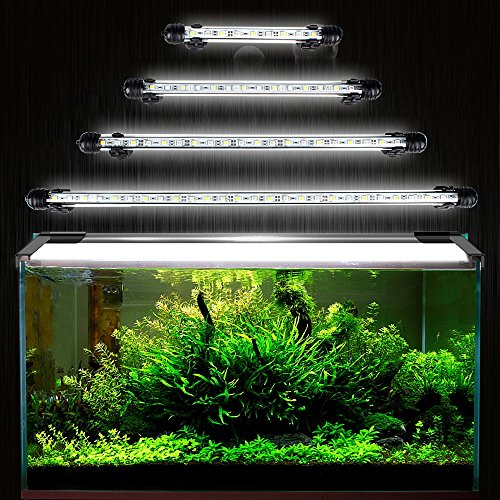 DOCEAN SMD 5050 15LEDs Illuminazione per Acquario LED Lampada Acquario Luci dell'acquario Aquarium Lighting Luce Impermeabile IP68 per Acquario, Bianco luce, 28cm