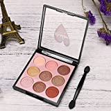 9 Color Pearl Glitter Eye Shadow Powder Palette Matt Eyeshadow Cosmetic Makeup for Professional Makeup or Daily Use (One Size, D)