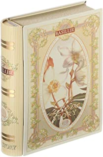 Basilur, love story collection, tea-book volume 3, Ceylon green tea with bits of pineapple and coconut, loose leaf tea in ...