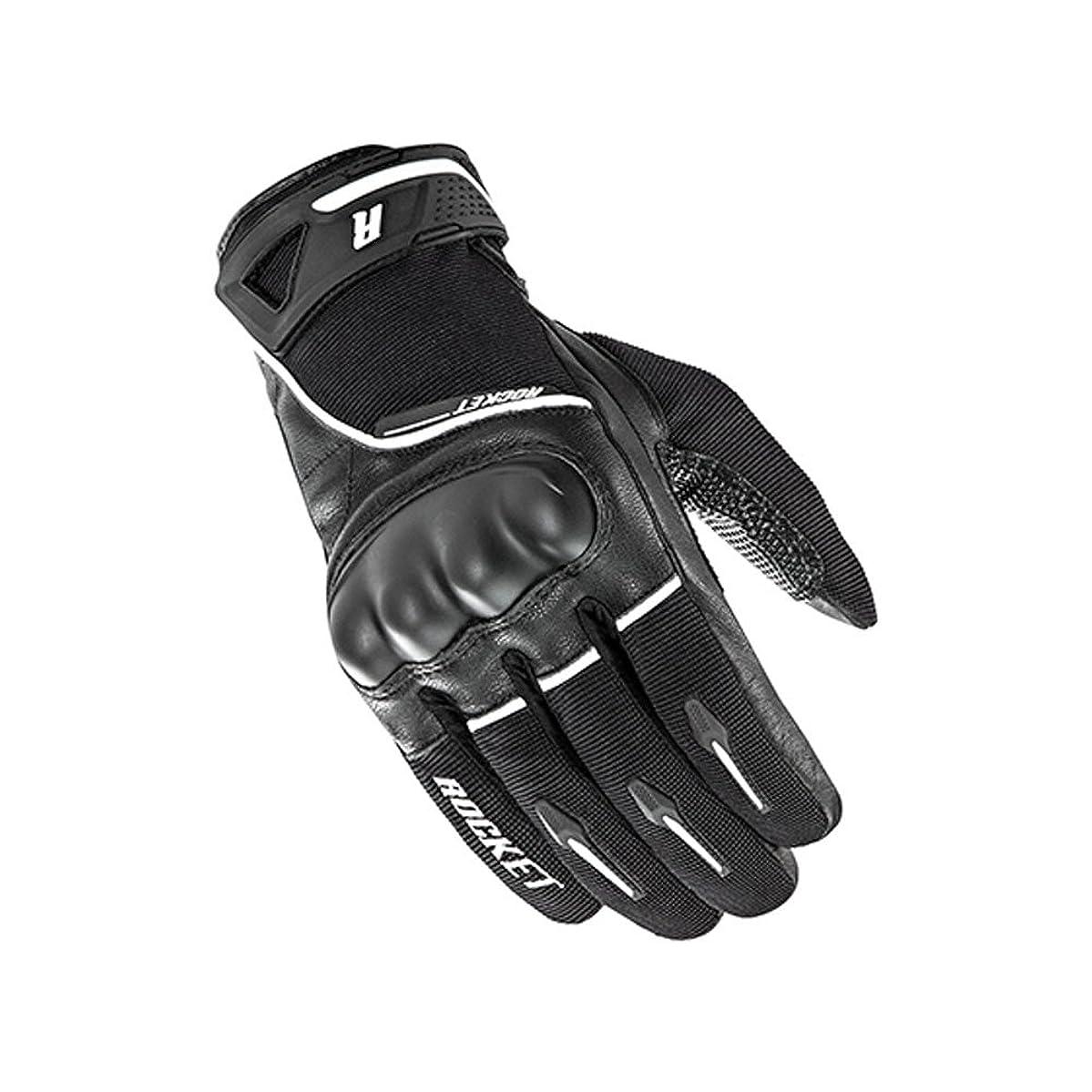 Joe Rocket Supermoto Mens On-Road Motorcycle Leather Gloves - Black/White/Large