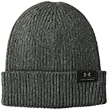 Under Armour Men's Charged Wool Beanie, Black (002)/Charcoal, One Size Fits All