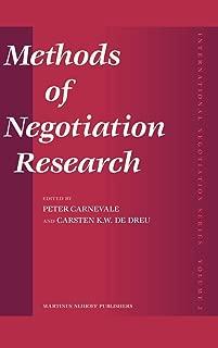Methods of Negotiation Research (International Negotiation Series)