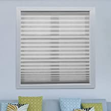 Acholo Easy to Install Pleated Fabric Shades Blinds Room Darkening Window Shades Blinds Grey 36