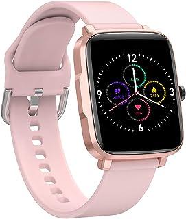 MiniDeer Smart Watch for Men Women 2021 Version IP68 Waterproof, Fitness Tracker Heart Rate Monitor Sport Digital Watch, S...