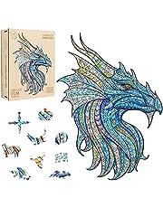 OTAKUKID® – Puzzle en Bois Animaux – Puzzles en Forme de Dragon – Jeu de Réflexion/Casse-tête pour Adulte et Enfant – Idée Cadeau – 180 Pièces M Size 24,8 cm X 35 cm