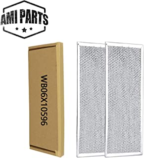 WB06X10596 Filter Microwave Oven Grease Filter [ Packed in Box] Compatible with GE Stove Replacement Parts by AMI - 13-3/8 x 5-7/8 x 5/32 inch 2 Pack