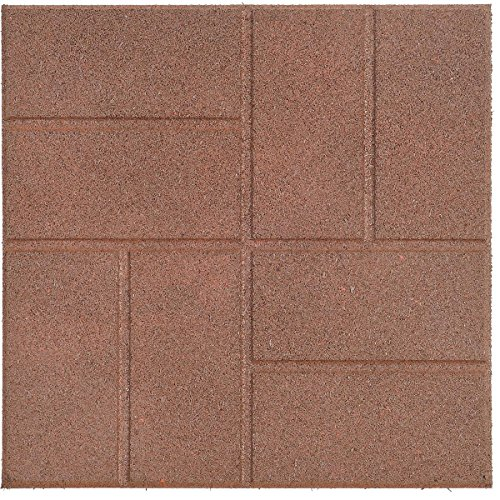 """International Mulch Reversible Recycled Rubber Landscaping Paver, Brown, 16"""" x 16"""" -  INTERNATIONAL MULCH CO INC, PVBNDS"""