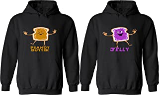 Peanut Butter & Jelly - Matching Couple Hoodies - His and Her Love Sweaters