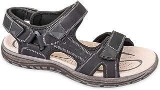Valleverde Sandalo Uomo Tessuto e Pelle 54801 Nero. Una Calzatura Comoda Adatta per Tutte Le Occasioni. Primavera Estate 2020