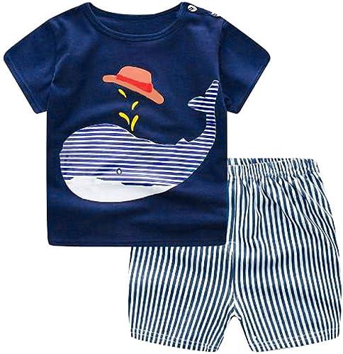 Bold N Elegant Cool Printed Jungle Animal Cartoon Tshirt Half Pant Knicker Shorts 2 Pc Set For Newborn Infant Toddler Baby Kids