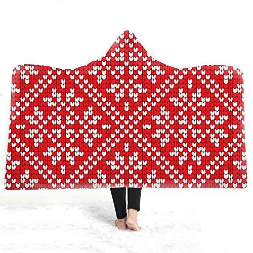 upnanren Hiver Europe et Amérique Portant Une Couverture pour Enfants de Bonnet Une Couverture pour Enfants Double Manteau Impression numérique 3D