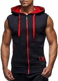 LemonGirl Men's Bodybuilding Sleeveless Hoodie Gym Tank Top