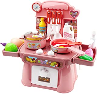 Toy Kitchen for Kids, Kitchen Pretend Play Child Cooking Toy Kids Kitchen Accessories Play Food Toys Kitchen Cooking Role ...