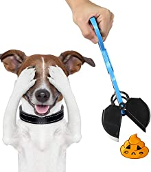 Pet1997 Pooper Scooper Pet Waste Shovels Cleaning Waste Scoop Tool Handle Grabber Pick Up Waste Dog Feces Jaw for Dog and Cats Easy Pet Waste Clean-Up Pet Cleaning Products Pet Toilet (Blue)