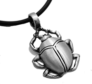 Exoicdream Egyptian Scarab Beetle Pewter Pendant Jewelry + 18