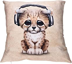 VJGOAL Encantador Animal de impresión Funda de Almohada Suave comfoatable sofá Coche Cuadrado Funda de cojín decoración para el hogar extraíble y Lavable(45_x_45_cm,Multicolor3)