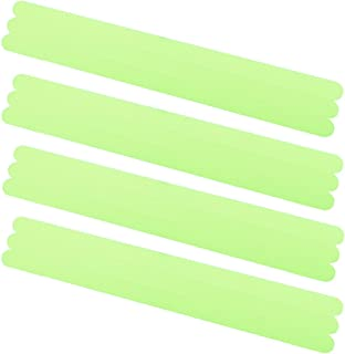 iGreely Non-Slip Safety Shower Treads Glow in The Dark Tape 12PCS 0.8 inch x 15 inch Luminous Anti-Slip Strips Adhesive for Bathtubs Showers Stairs and Floors (Green)