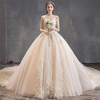 Snygg enkelhet bröllopsklänningar för kvinnor chiffong golvlängd lång klänning spets v-hals bröllopsklänning skinande brud...