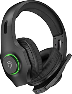 EasySMX Wireless Gaming Headset 2.4GHz with 7.1 Surround Sound & Noise Canceling Microphone,...