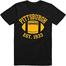 Sm-5X Pittsburgh Football Fans Pittsburgh A Drinking Town with A Championship Problem Black T-Shirt