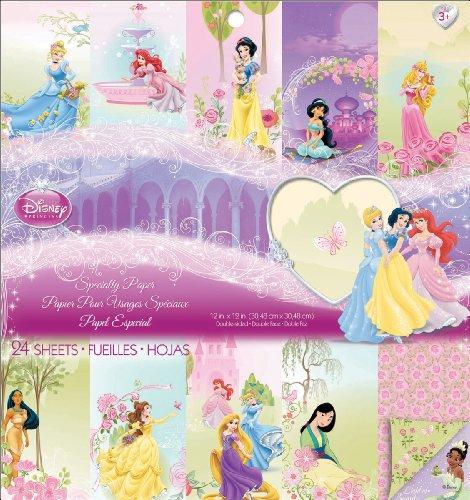 EK Success Disney Specialty Paper Pad, Princess Disney Princess 12x12 Paper