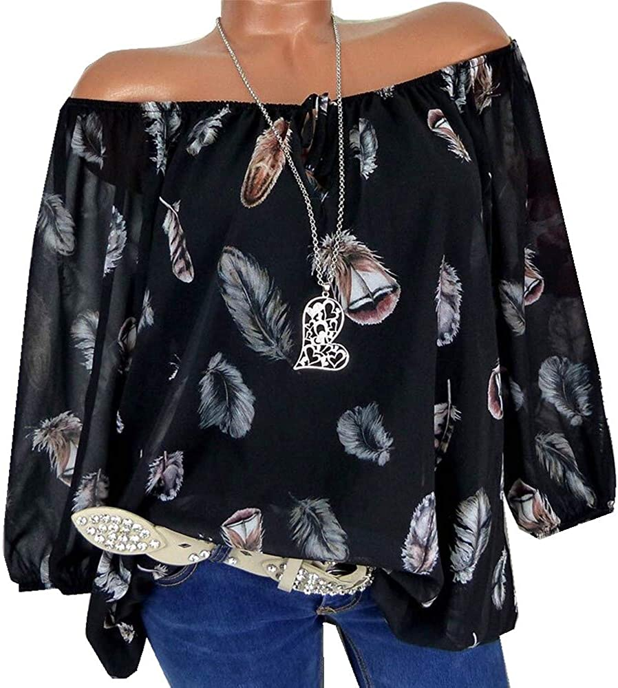 We OFFer at cheap prices Women's Plus Size Tshirt Tops Half cheap V-Neck Sleeve B Print Feather
