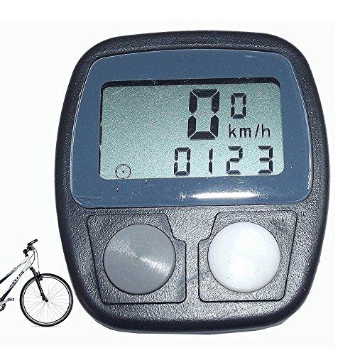 Computer Fahrradcomputer Fahrrad zählt Kilometer Tacho Fahrrad Bike strapazierfähig Wasser Regen ideal für das Fahrrad Semi Profi, 13Funktionen + Sensor und individuelle Einstellung Bauform