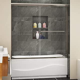 SUNNY SHOWER Tub Shower Door Double Glass Sliding Shower Bath-tub Door 60