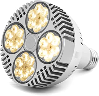 CANAGROW 35W LED Grow Light Bulb, Grow Lights for Indoor Plants, E26 Full Spectrum Plant Grow Light Bulb, Growing Light Lamps for Hydroponic Greenhouse Succulent Flower Veg and Bloom