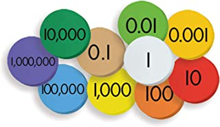 Essential Learning Products 10-Value Decimals to Whole Numbers Place Discs Set